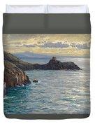 Coast At Amalfi Duvet Cover