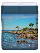 Coast At Antibes France Dsc02221 Duvet Cover