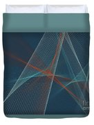 Coast Computer Graphic Line Pattern Duvet Cover