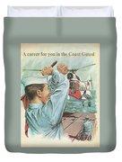Coast Guard Career Duvet Cover