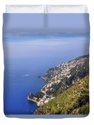 Coast Of Amalfi Duvet Cover