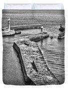 Coast - Whitby Harbour Duvet Cover