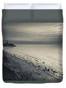 Coast With A Lighthouse Duvet Cover