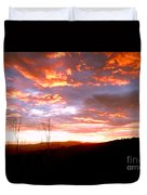 Costa Rican Mountain Valley Sunset Duvet Cover