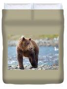 Coastal Brown Bear Duvet Cover