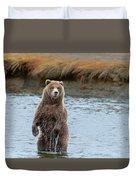 Coastal Brown Bears On Salmon Watch Duvet Cover