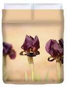 Coastal Iris  Duvet Cover
