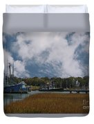 Coastal Island Town Duvet Cover