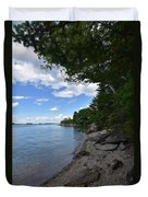 Coastal Maine's Rocky Shore On A Beautiful Summer Day Duvet Cover