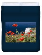 Coastal Poppies Duvet Cover