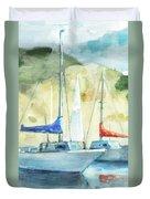 Coastal Sails Duvet Cover