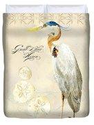 Coastal Waterways - Great Blue Heron Duvet Cover