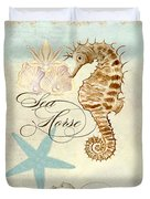 Coastal Waterways - Seahorse Rectangle 2 Duvet Cover