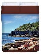 Coastline And Otter Cliff 3 Duvet Cover