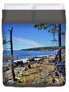 Coastline At Otter Point 1 Duvet Cover