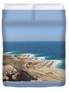 Coastline In The Desert Duvet Cover