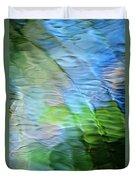 Coastline Mosaic Abstract Art Duvet Cover