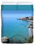 Coastline Of Nerja-spain Duvet Cover