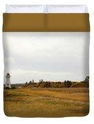Coastline Of Prince Edward Island, Canada With Lighhouse Duvet Cover