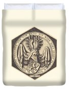 Coat Of Arms With A Lion Duvet Cover