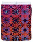 Cobalt Crimson Duvet Cover