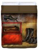 Cobbler - Life Of The Cobbler Duvet Cover