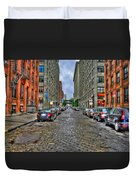 Cobblestone Brooklyn From Dumbo Duvet Cover