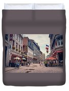 Cobblestone Streets In Old Montreal  Duvet Cover