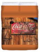 Coca Cola Barn Duvet Cover