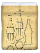 Coca Cola Bottle Patent Art 1937 Blueprint Drawing Duvet Cover