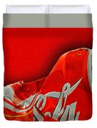 Coca-cola Can Crush Red Duvet Cover