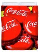 Coca Cola Caps Duvet Cover
