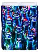 Coca-cola Coke Bottles - Return For Refund - Painterly - Blue Duvet Cover