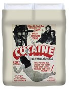 Cocaine Movie Poster, 1940s Duvet Cover