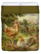 Cochin China Fowls Duvet Cover