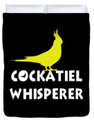 Cockatiel Whisperer Duvet Cover