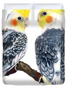 Cockatiels Duvet Cover