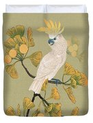 Cockatoo And Ginkgo Tree Duvet Cover