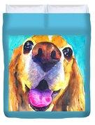 Cocker Spaniel Dog Smile Duvet Cover