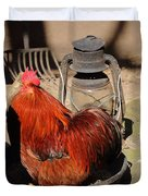 Cockerel And Storm Lamp Duvet Cover