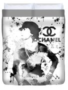 Coco Chanel Grunge Duvet Cover