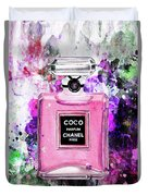 Coco Chanel Parfume Pink Duvet Cover