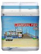 Cocoa Beach/cape Canaveral Pier Duvet Cover