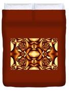 Cocoa Fractal Roses Duvet Cover