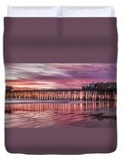 Cocoa Pier Sunrise Duvet Cover