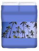 Coconut Grove At Wailua Duvet Cover
