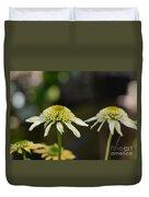 Coconut Lime Echinacea Duvet Cover