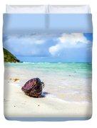 Coconut On The Beach Duvet Cover