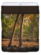 Coconut Palm Grove Duvet Cover
