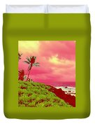 Coconut Palm Makai For Pele Duvet Cover